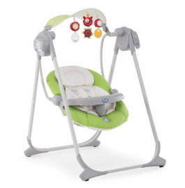 Электрокачели Chicco Polly Swing Up, цвет: green в аренду